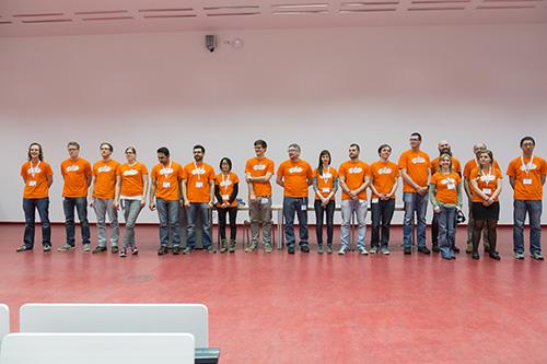 Die Organisatoren dankten gleich zu Beginn ihrem emsigen Team, ohne das die Tagung nicht zu machen gewesen wäre.