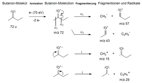 Butanon Zerfall