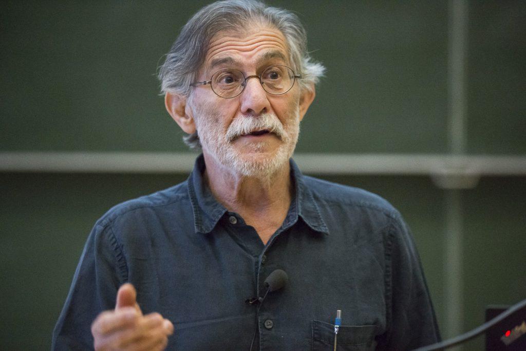 Brian Chait (Rockefeller University, NY) beim Wolfgang-Paul-Vortrag.