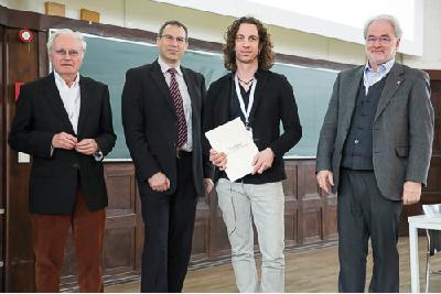 Von links: Wolf-Dieter Lehmann, Gunnar Weibchen, Marcus Bantscheff und Michael Linscheid.